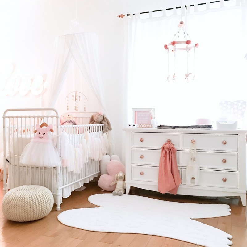 Tapis chambre bébé Tapis ailes blanc lorena canals