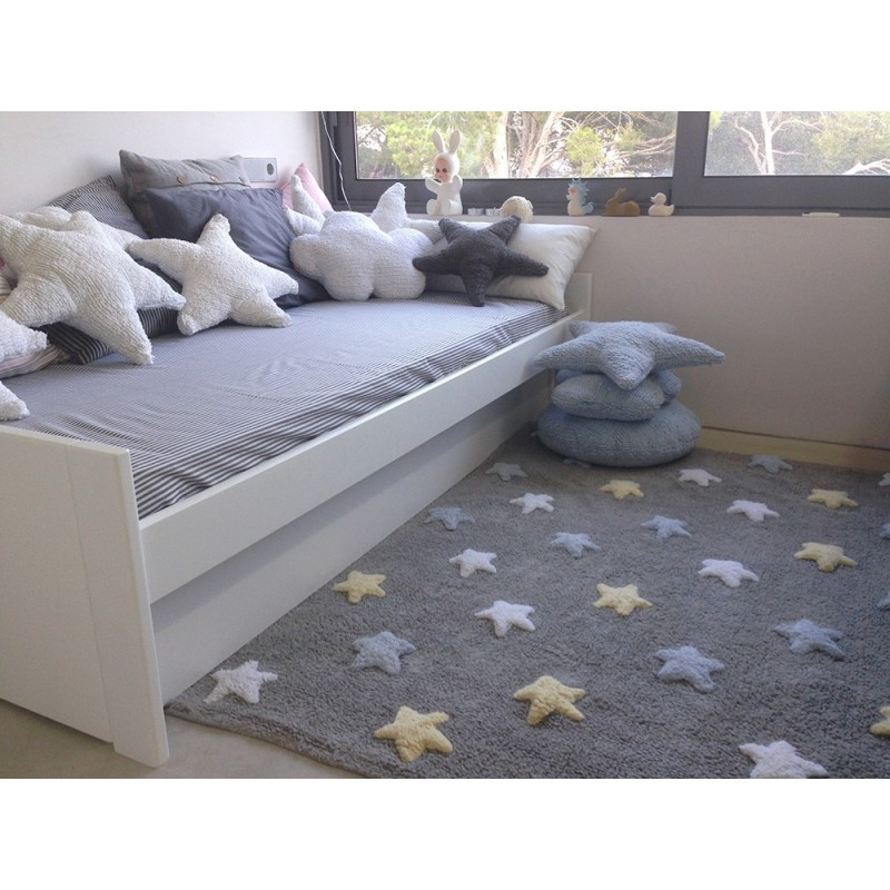 Tapis chambre bébé Tapis étoiles tricolore lorena canals