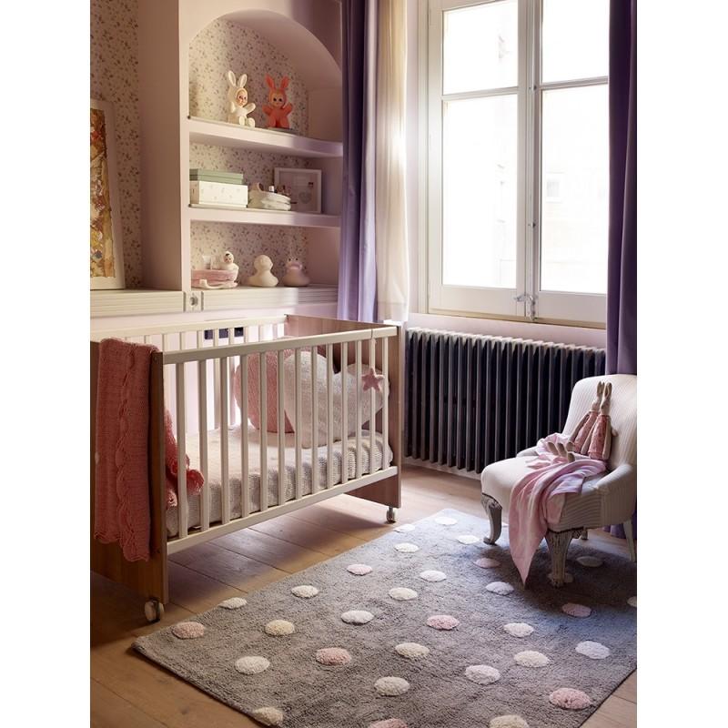 Tapis chambre bébé Tapis topos pois tricolore lorena canals