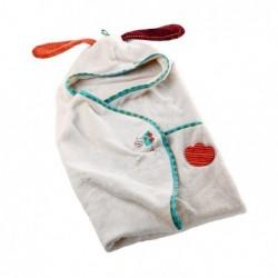 Peignoir bébé Les Lilliputiens Jef coffret de bain
