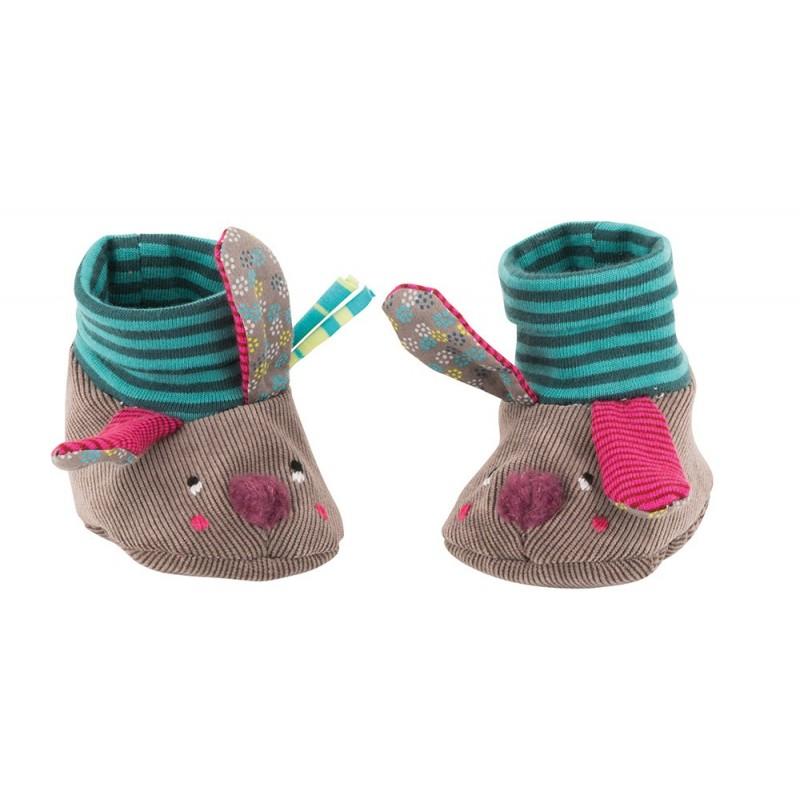 Chaussons bébé et enfant Chaussons lapin jolis pas beaux moulin roty