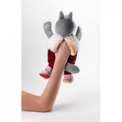 Poupées et peluches Les Lilliputiens Marionnette Loup et les 3 petits cochons