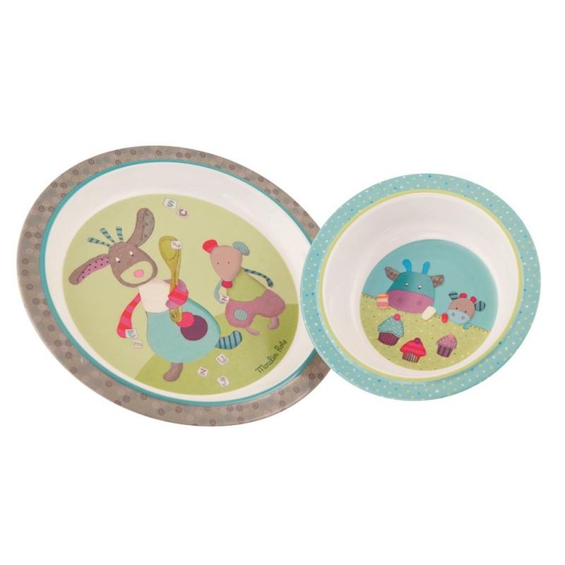 Coffret repas Set vaisselle jolis pas beaux moulin roty