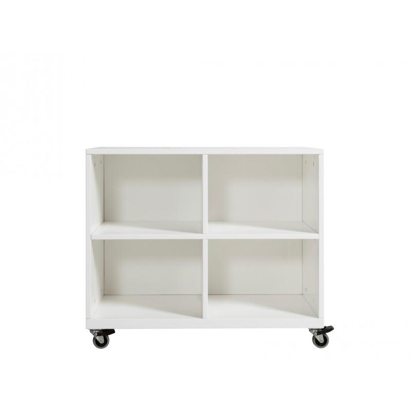 Armoire chambre bébé Petite armoire à roulettes helen blanc Bopita
