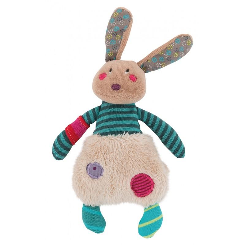 Peluches / coussin musical Le petit lapin jolis pas beaux moulin roty