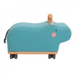 Porteur hippopotame bleu...