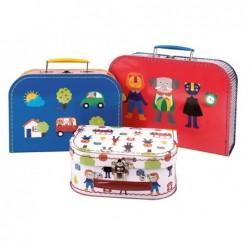 Set de 3 valises les...