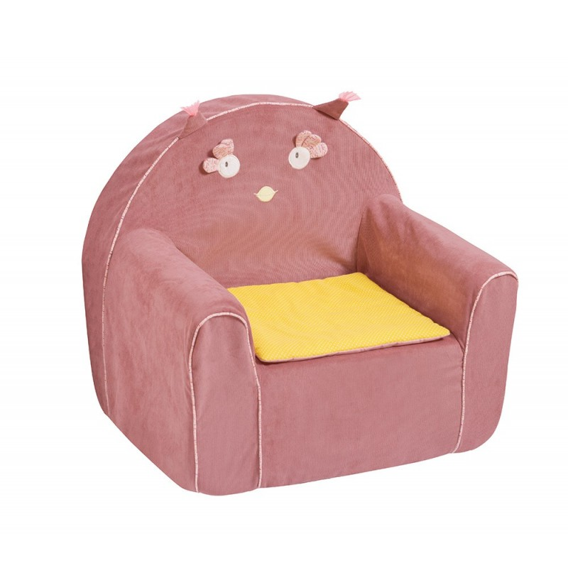 Chauffeuse fille convertible place solo rose fauteuil une for Ikea lit une chaise