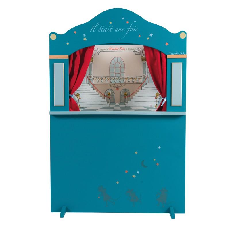 Moulin Roty Grand théâtre de marionnettes bleu il était une fois moulin roty
