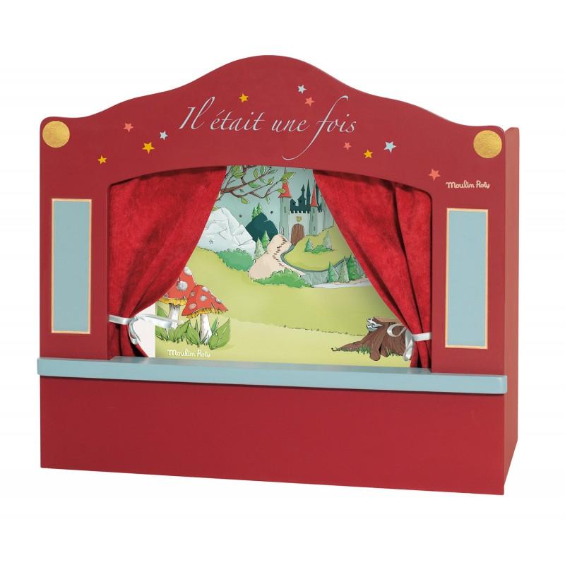 Moulin Roty Petit théâtre de marionnettes rouge il était une fois moulin roty