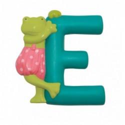 Lettre résine E grenouille...