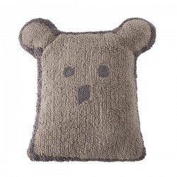 Coussin ours lin - gris...
