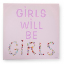 Peinture girls & buttons...