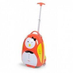 Valise enfant Trolley 17 ltr oiseau orange 27x39x15 childhome