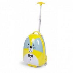 Valise enfant Trolley 17 ltr raton laveur vert 27x39x15 childhome