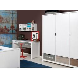 Armoire 3 portes basic wood white wash  3 tiroirs 135107xx vendu séparément bopita Bopita