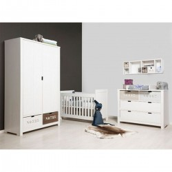 Armoire chambre bébé Armoire à tiroirs basic wood white wash bopita