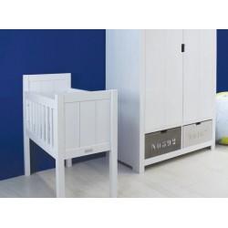 Berceaux et Couffins Berceau 40x80 basic wood white wash bopita