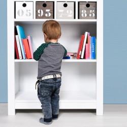 Bibliothèque basic wood white wash (sans 4 tiroirs 168107xx) bopita Bopita