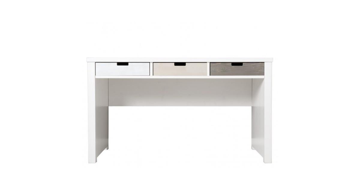 Bureau et Chaise chambre bébé Bureau basic wood white wash bopita