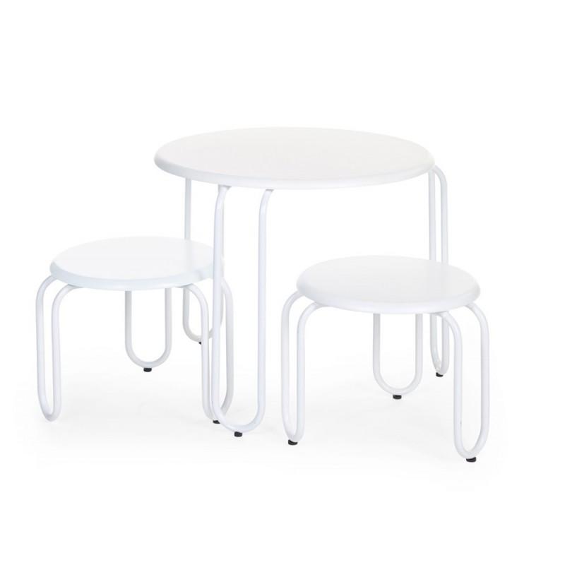 Bureau Et Chaise Chambre Bebe Petite Table Ronde 2 Chaises Blanc Ironwood Childhome