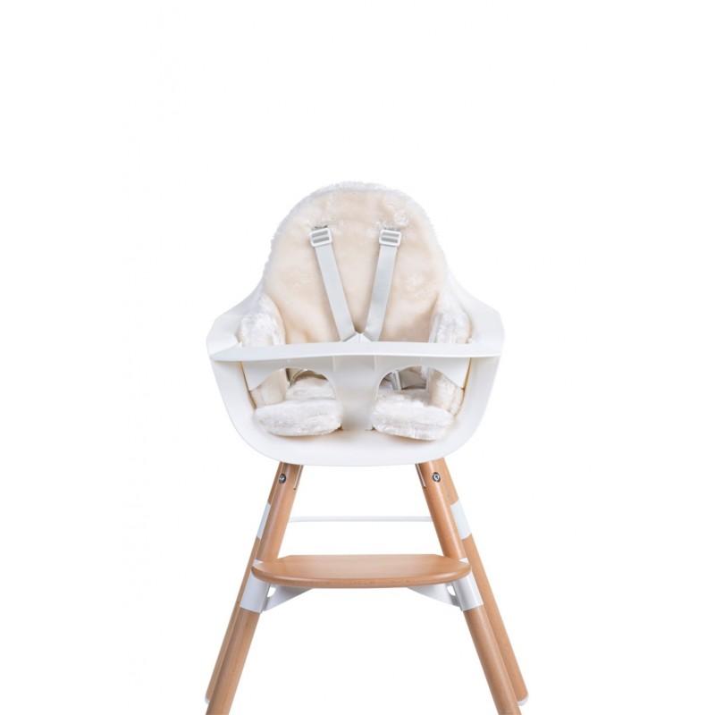 coussin de chaise coussin de chaise evolu fourrure blanc. Black Bedroom Furniture Sets. Home Design Ideas