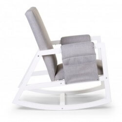 Fauteuil d'allaitement Fauteuil d'allaitement rocking relax chair blanc canvas gris childhome