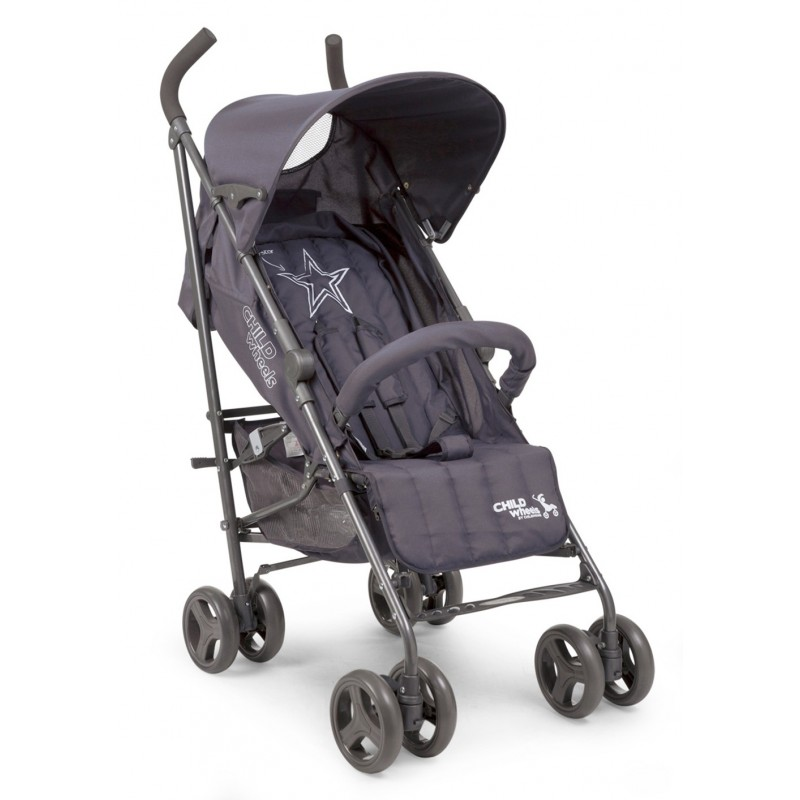 Poussette canne Poussette Buggy Superstar Multiposition Anthracite