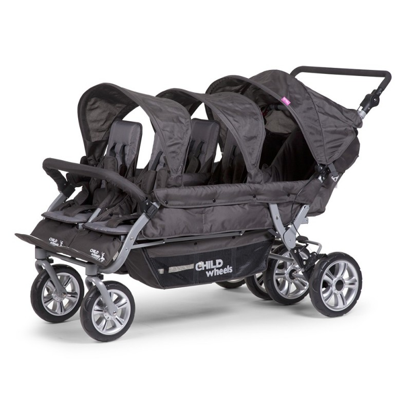 Poussette quadruple et + Poussette multiple Six Seater anthracite Childhome