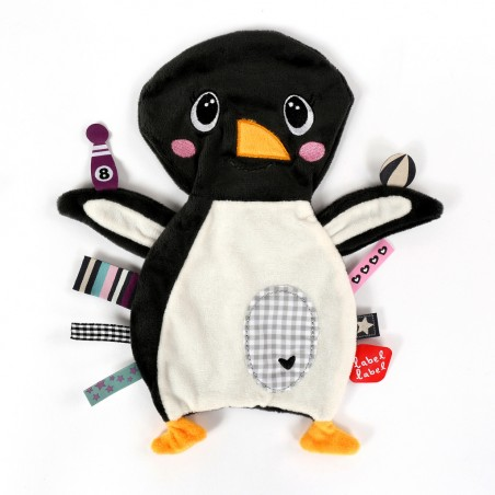 Doudous Label-label doudou etiquettes friends pingouin