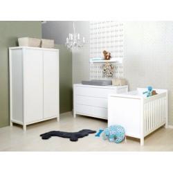 Lit bébé Lit 60x120 corsica blanc bopita