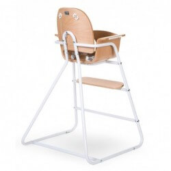 Chaises hautes Chaise haute bebe ironwood naturel childhome