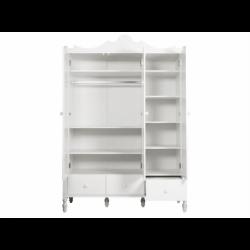 Bopita Armoire 3 portes avec 3 tiroirs belle blanc bopita