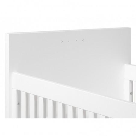 Lit bébé évolutif Lit transformable 60x120/90x200 camille blanc bopita