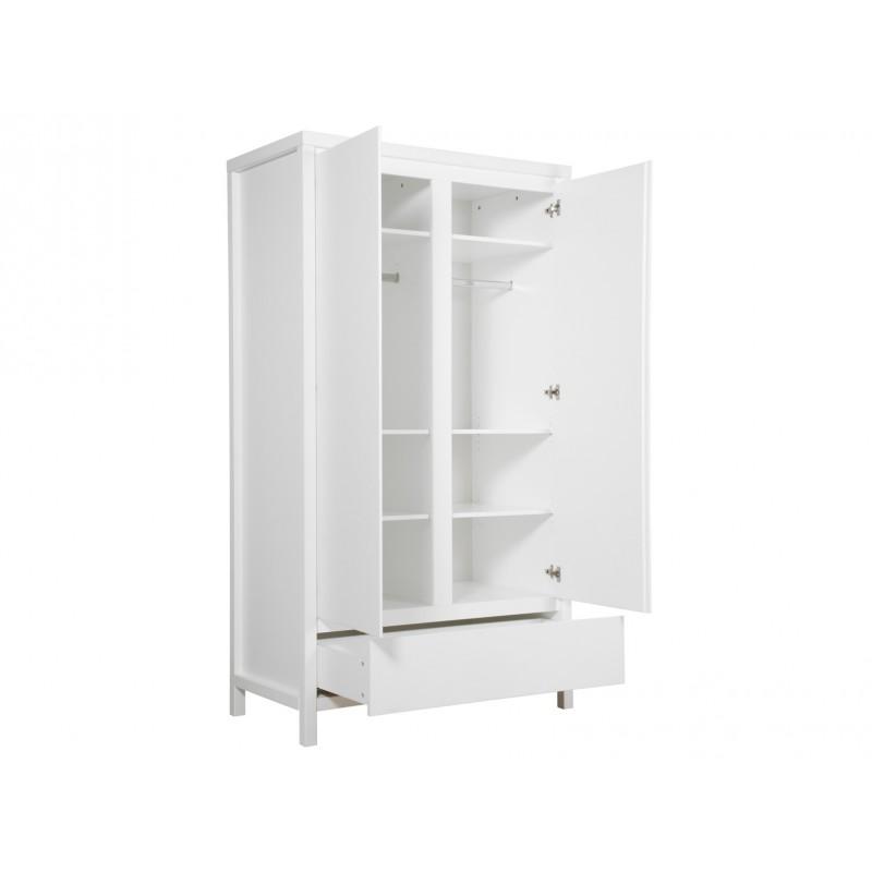 Bopita Armoire 2 portes xl avec tiroir corsica blanc bopita