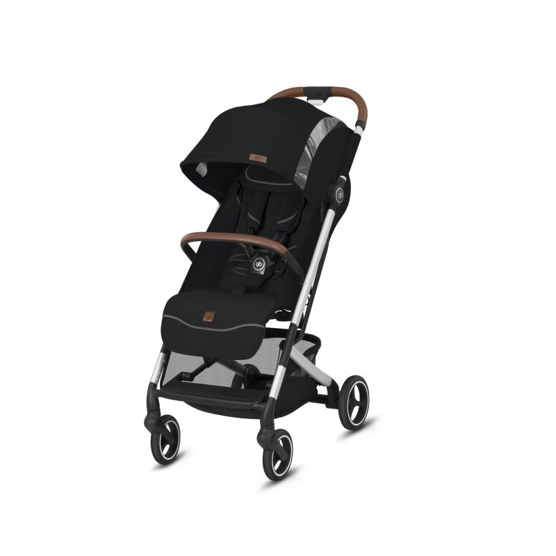 Poussette canne QBIT+ ALL-CITY châssis Chrome/Black siège 2020