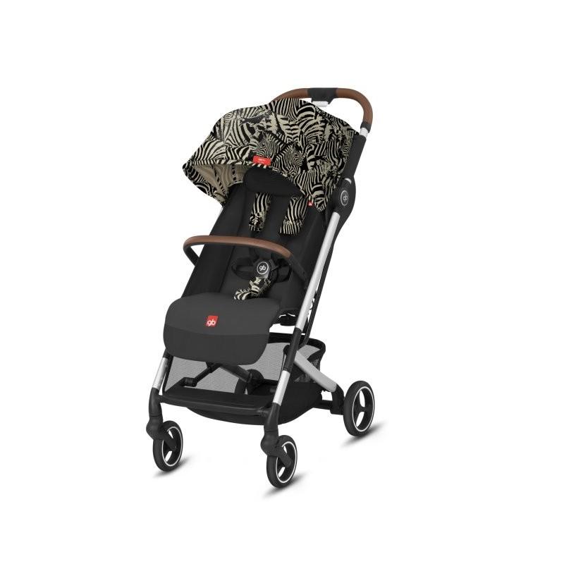Poussette canne QBIT+ ALL-CITY châssis Chrome/Black siège 2020