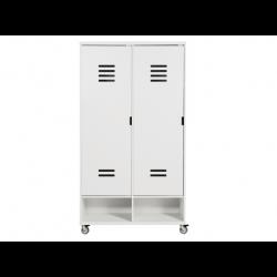 Bopita Armoire 2 portes locker à roulettes mix & match blanc (sans 2 tiroirs 3546xx) bopita