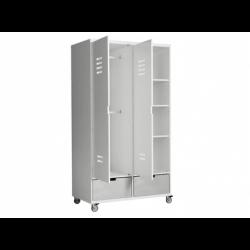 Armoire chambre bébé Armoire 2 portes locker à roulettes mix & match blanc (sans 2 tiroirs 3546xx) bopita