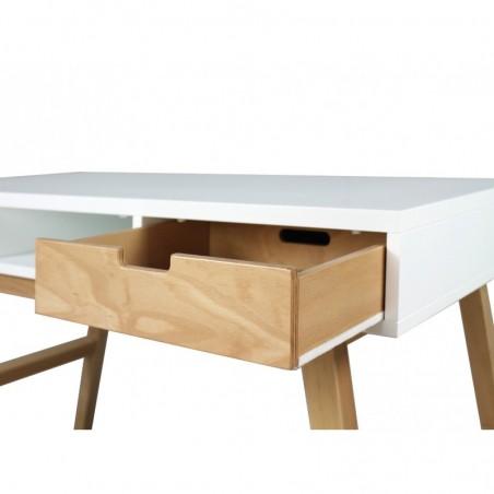Bureau et Chaise chambre bébé Bureau lynn blanc/naturel (sans 3 tiroirs) Bopita