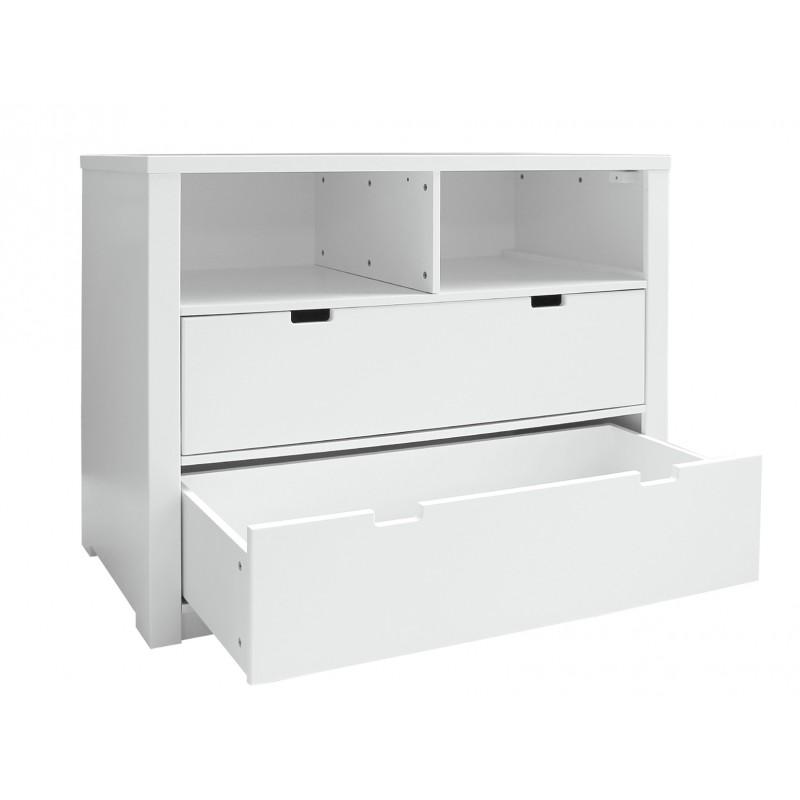 Bopita Commode 2 compartiments ouverts / 2 tiroirs mix & match luxe blanc (sans 2 tiroirs 3546xx) bopita