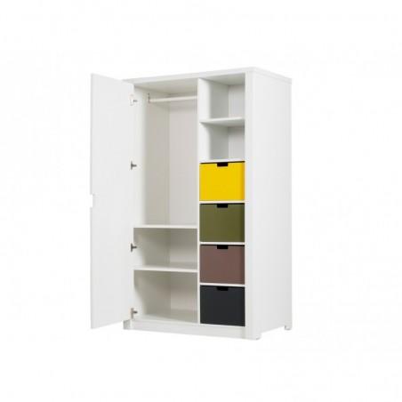 Armoire chambre bébé Armoire 1 porte mix & match luxe blanc (sans 6 tiroirs 5946xx) bopita
