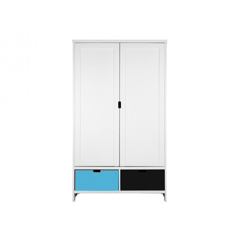 Armoire chambre bébé Armoire 2 portes mix & match blanc (sans 2 tiroirs 3546xx) bopita