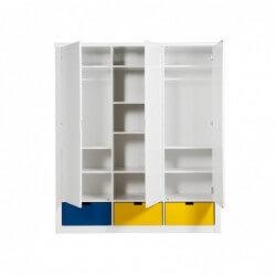 Bopita Armoire 3 portes mix & match luxe blanc (sans 3 tiroirs 3546xx) bopita