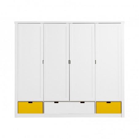 Armoire chambre bébé Armoire 4portes avec tiroir mix & match luxe