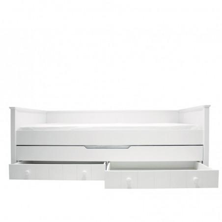 Lit Junior Lit banquette + 1 tiroir lit et 2 tiroirs de rangement