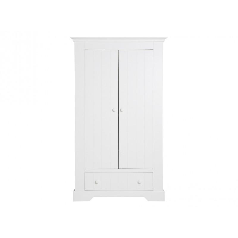 Bopita Armoire 2 portes avec tiroir narbonne blanc bopita