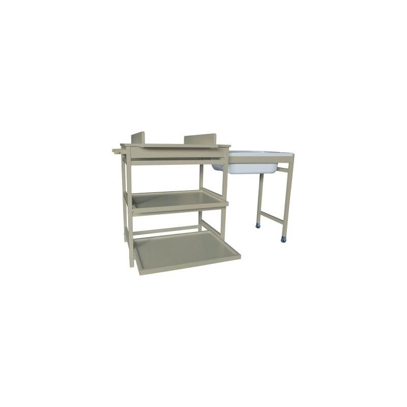 Table langer meuble de bain meuble bain comfort luxe quax for Meuble quax