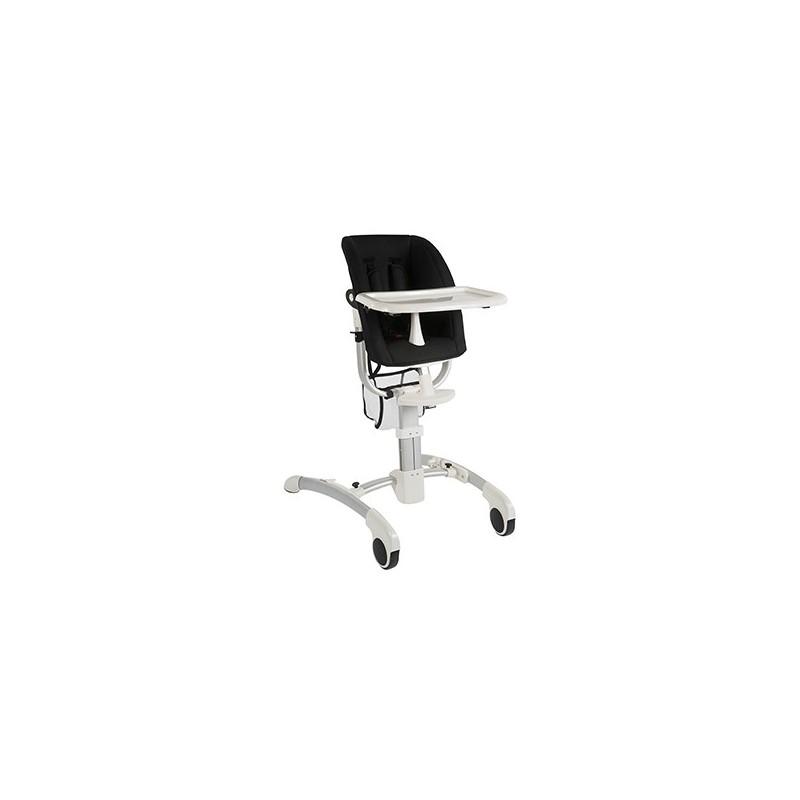 chaises hautes chaise enfant sky blanche assise tissu noir quax. Black Bedroom Furniture Sets. Home Design Ideas