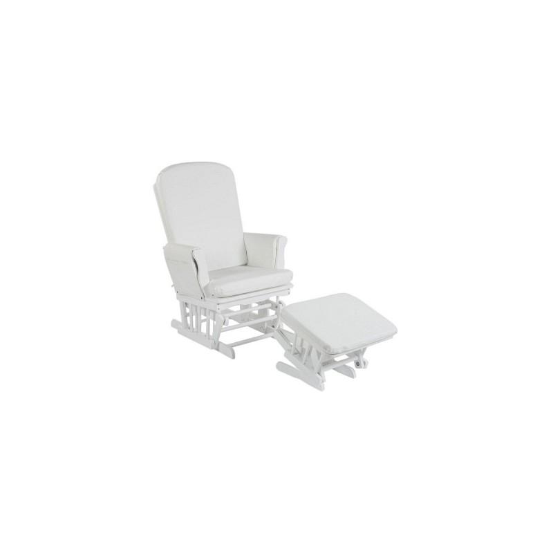 quax rocking chair blanc coussin simili cuir blanc quax. Black Bedroom Furniture Sets. Home Design Ideas